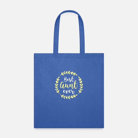 Birthday Bags & Backpacks - Auntie Aunt Yellow B.A.E. Best Aunt Ever Birthday - Tote Bag royal blue