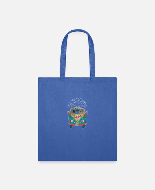 Hair Bags & Backpacks - On A Dark Desert Highway Cool Wind In My Hair - Tote Bag royal blue