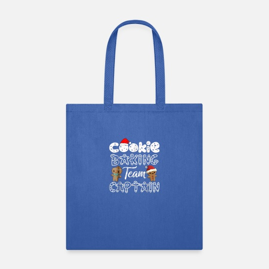 Christmas Carols Bags & Backpacks - Cookie Baking Team Captain Gingerbread Christmas T - Tote Bag royal blue