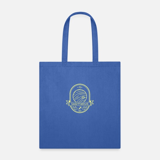 Zodiac Bags & Backpacks - Sagittarius Sagittarius Horoscope Zodiac Symbol - Tote Bag royal blue