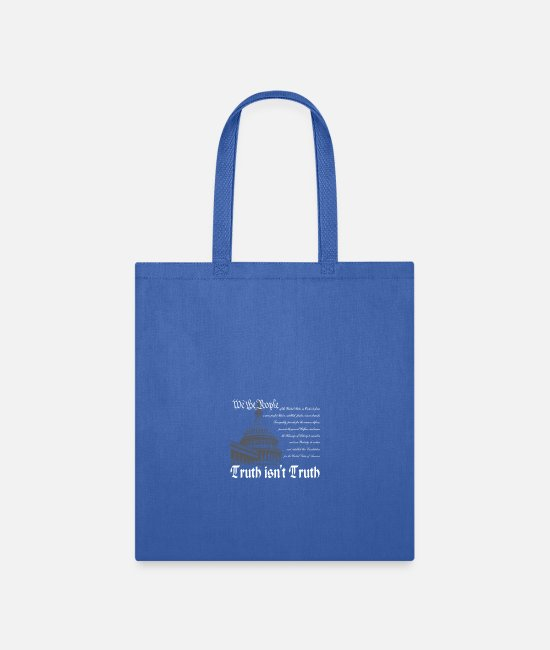 Trump Bags & Backpacks - Truth isn t Truth white - Tote Bag royal blue