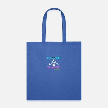 Classic Game i love eating classic games - Tote Bag