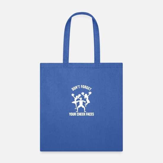 Group Bags & Backpacks - Funny Cheerleading Design Quote Don't Forget Your - Tote Bag royal blue