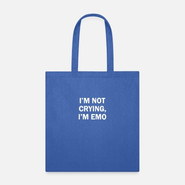Note-clue I'm not crying I'm emo - Tote Bag