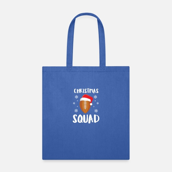 Santa Claus Bags & Backpacks - American Football Christmas Squad Christmas Xmas - Tote Bag royal blue