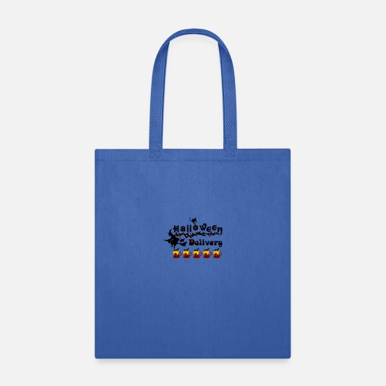 Quote Bags & Backpacks - ✦°Halloween Delivery-Drink Up Bat Beers - Tote Bag royal blue