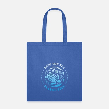 Sealife Keep the Sea Plastic Free Underwater Scene vectori - Tote Bag