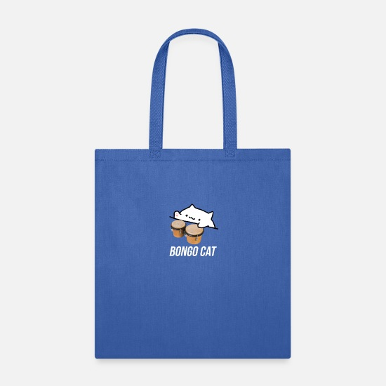 Cat Bags & Backpacks - Cute bongo cat plays the drums very nicely. - Tote Bag royal blue