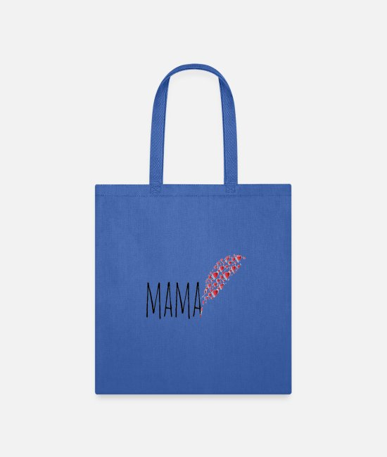 Mother's Day Bags & Backpacks - mama day greeting - Tote Bag royal blue