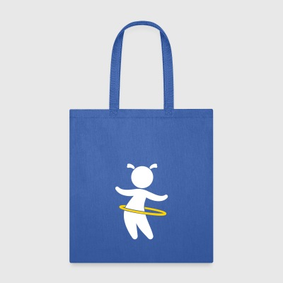 Child Playing With Hoolahoop - Tote Bag