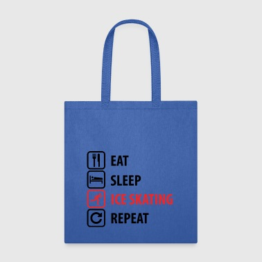 Eat Sleep Ice skating Repeat - Tote Bag