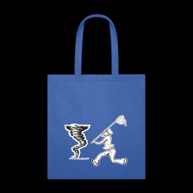 Funny Storm Hunter with Net to catch a Tornado - Tote Bag