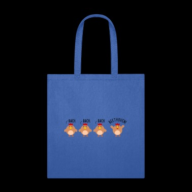 Chicken Bach Beethoven Composer Clever Funny Shirt - Tote Bag