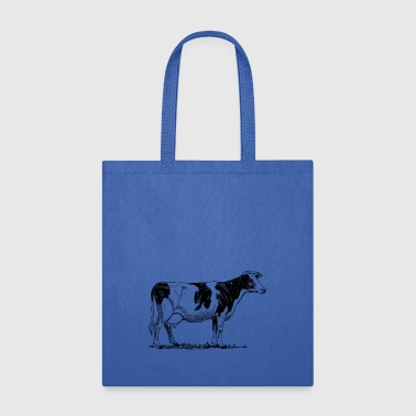 Holstein Cow Drawing - Tote Bag