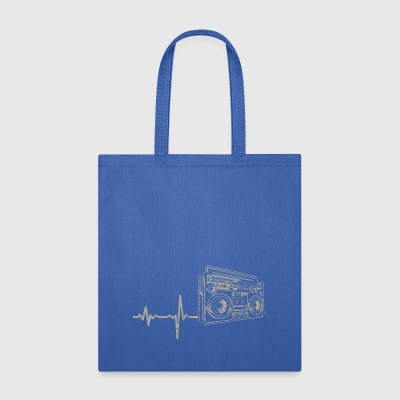 shirt gift heartbeat radio - Tote Bag