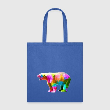 Colorful Polar Bear - Tote Bag