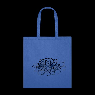 Filigree lotus with leaves, yoga - Tote Bag