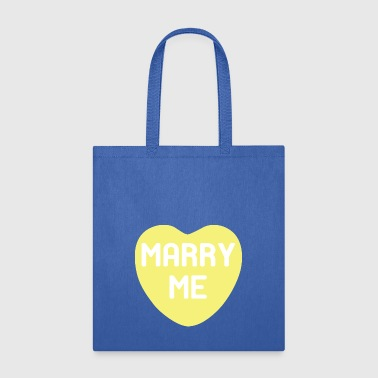 Marry Me Yellow Candy Heart - Tote Bag