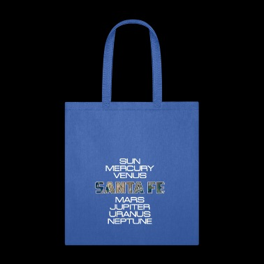 Solar System Planet Earth Santa Fe Gift - Tote Bag