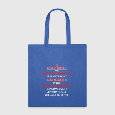 gift rule 1 always right MODEL BUILDING GIRL - Tote Bag