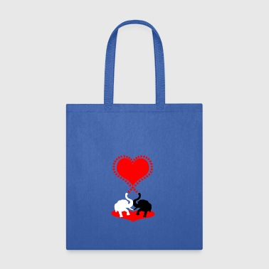 Big red heart and big kiss. - Tote Bag