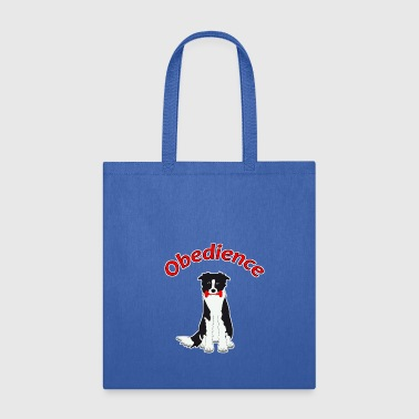 obedience border collie 3 - Tote Bag