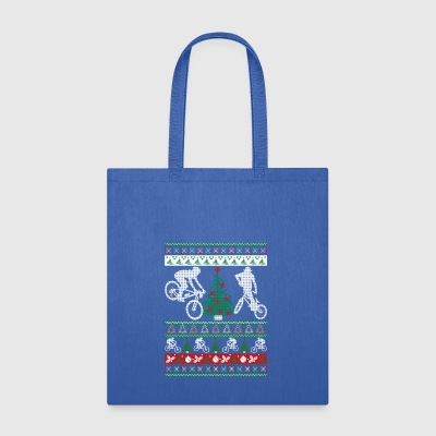 BMX Ugly Christmas Sweater Funny Holiday T-Shirt - Tote Bag