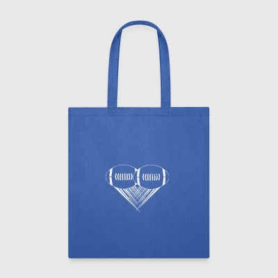 I love american football My Heart Football Gifts - Tote Bag