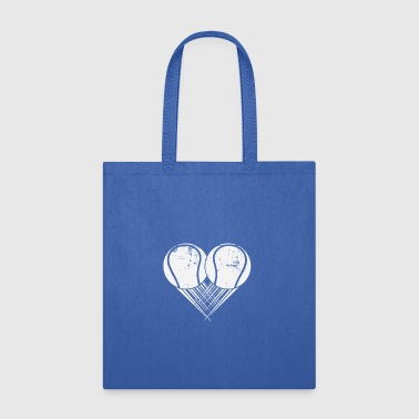I love Tennis My Heart goes Tennis Gift - Tote Bag
