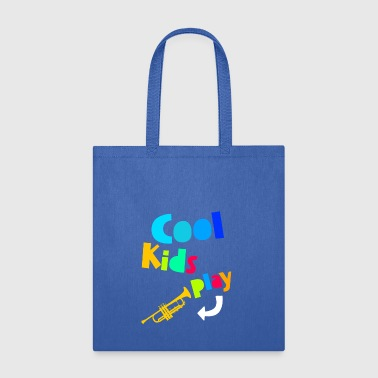 Cool Kids Play Trumpet Music Gift Children - Tote Bag