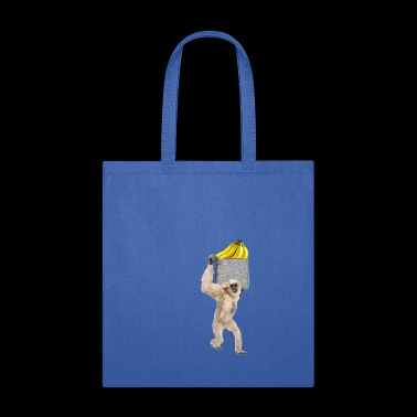 Gibbon Monkey Reaching For Banana In Fake Pocket - Tote Bag