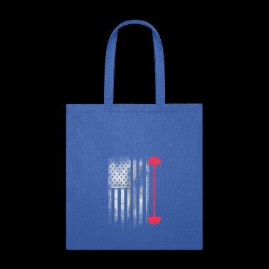 american sport flag weight bodybuilding shape gym - Tote Bag