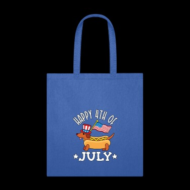 Patriotic Dachshund Hot Dog Americana 4th of July - Tote Bag