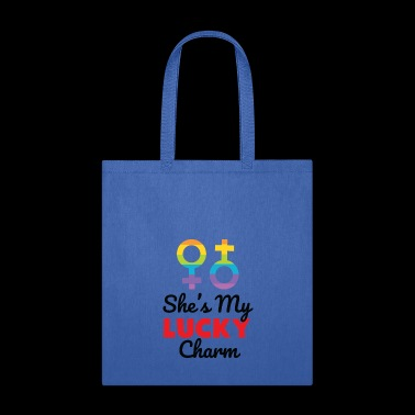 Cute She's My Lucky Charm T-Shirt - Tote Bag
