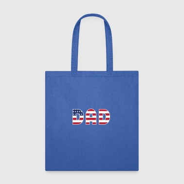 DAD + US Flag - Tote Bag