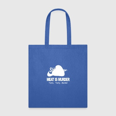 Meat Is Murder Tasty Tasty Murder Funny BBQ - Tote Bag