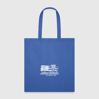 Pharmacy Technician US Flag - Tote Bag
