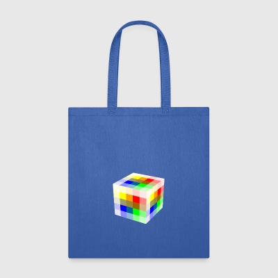 Multi Colored Cube - Tote Bag