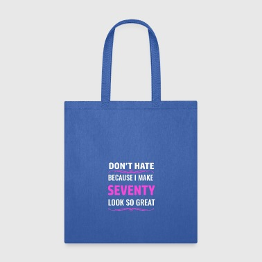 70th birthday design - Tote Bag