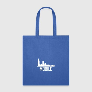 Mobile Alabama City Skyline - Tote Bag