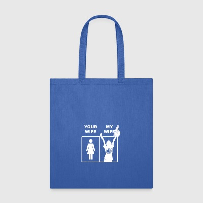 Your Wife My Wife Basketball - Tote Bag