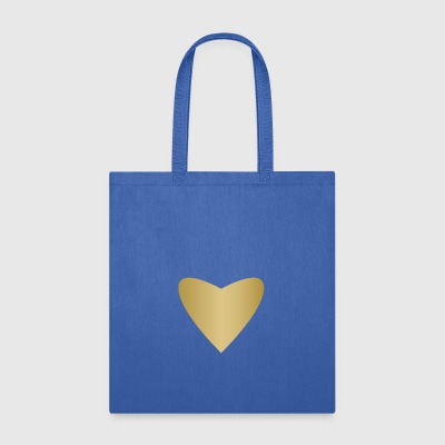 symbol of love golden heart heraldic sign art fun - Tote Bag