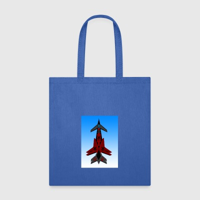 600_resol_fighter_jet_red - Tote Bag