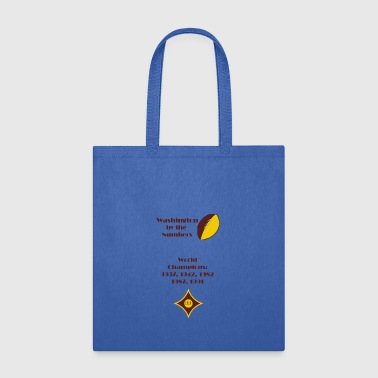 By The Numbers-Washington Football - Tote Bag
