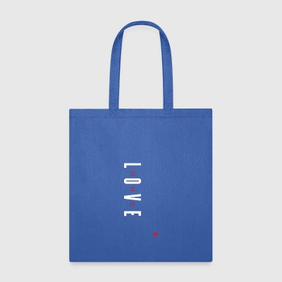 One Love (White/Red Letters) - Tote Bag