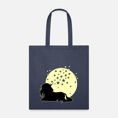 Moon Unicorn full moon & stars - Tote Bag