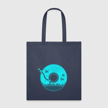 Vinyl with Under Water Scenery - Tote Bag