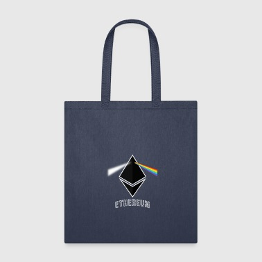 Ethereum Prism Rainbow Light White Cryptocurrency - Tote Bag