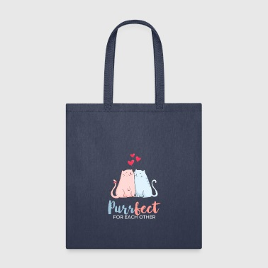 Evergreen Love Purr fect for each other - Tote Bag