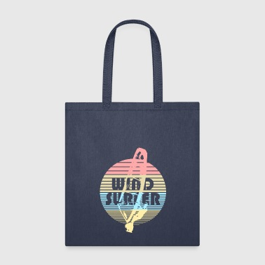 windsurfer windsurfing wind water sea ocean - Tote Bag